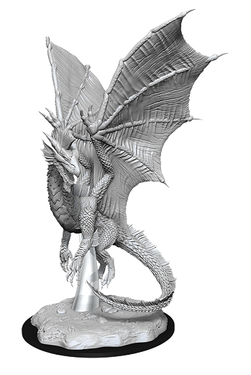 D&D Figure: Young Silver Dragon