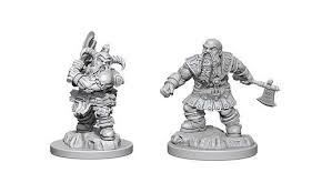 D&D Figure: Dwarf Male Barbarian
