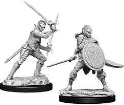 Pathfinder Figure: Elf Female Fighter #2
