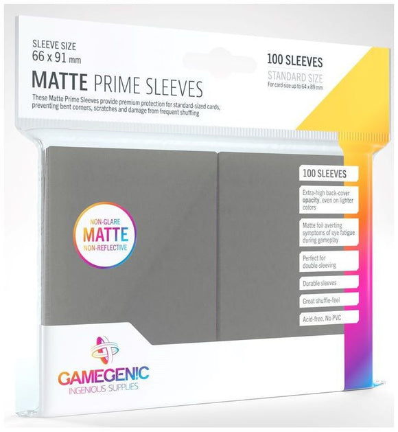 Gamegenic: Matte Prime DarkGray Sleeves