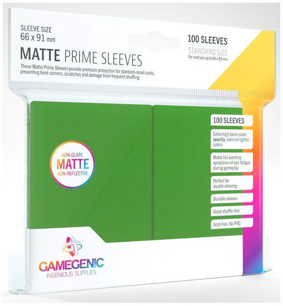 Gamegenic: Matte Prime Green Sleeves