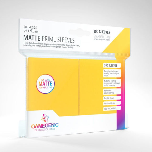 Gamegenic: Matte Prime Yellow Sleeves