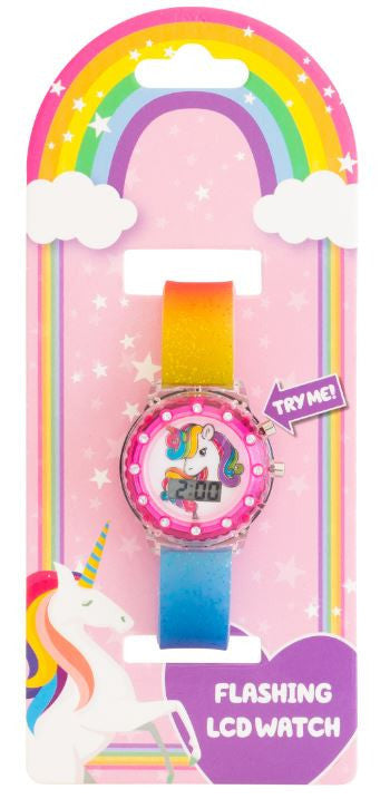 Light Up Digital Watch: Unicorn