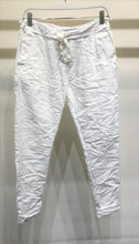 Load image into Gallery viewer, Solid White Crinkle Jogger W/ Star Pocket