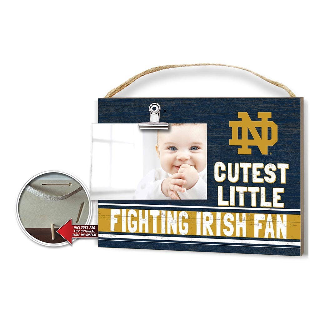 Cutest Little Photo Frame Colored Logo Notre Dame Fighting Irish