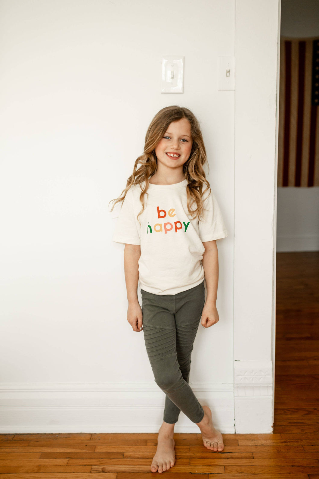 Be Happy Kid/Toddler Tee