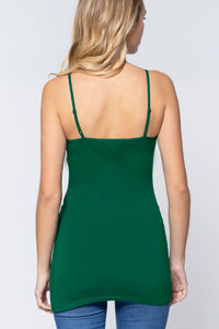 Adjustable Strap Cami - True Green