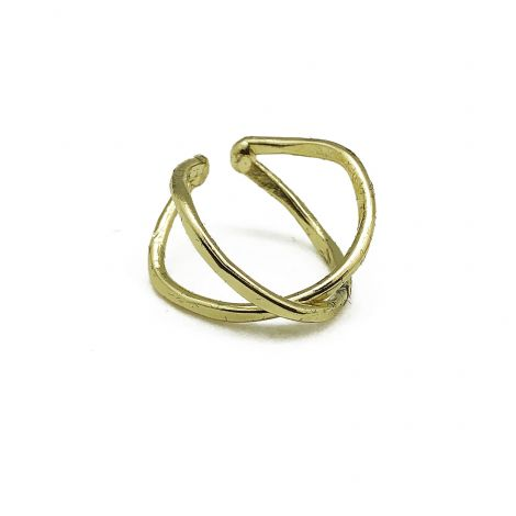 Gold Plated Ring - X