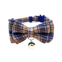 Small Dog Collar With Removable Bow and Hanging Bell