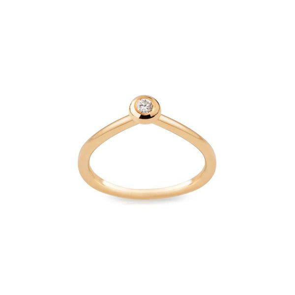 Ana Sales Drop Gold Diamond Ring MOD Jewellery