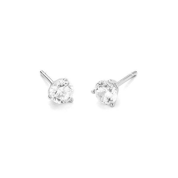 Facet Solitaire Gold Diamond Earrings MOD Jewellery