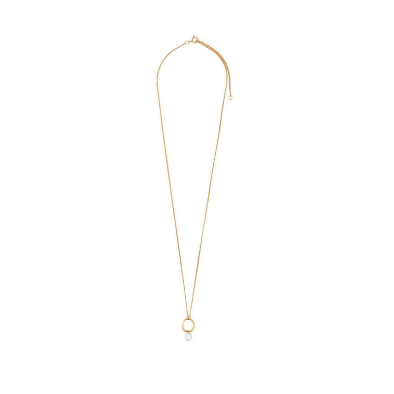 Inês Telles Azura Gold Plated Necklace with Pearl MOD Jewellery - 24k Gold plated silver