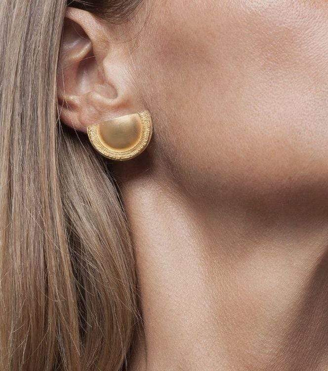 Inês Telles Beltia Gold Plated Earrings MOD Jewellery - 24k Gold plated silver
