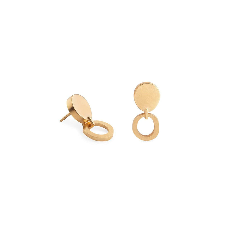 Inês Telles Duoo Earrings MOD Jewellery - 24k Gold plated silver