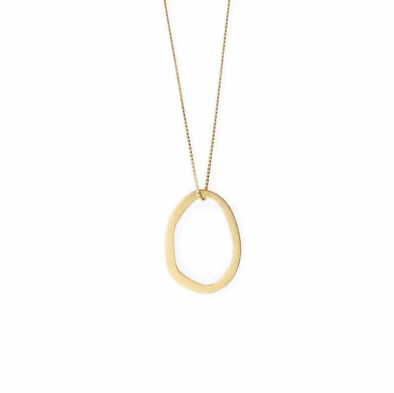 Inês Telles Duoo Necklace with Pendant MOD Jewellery - 24k Gold plated silver