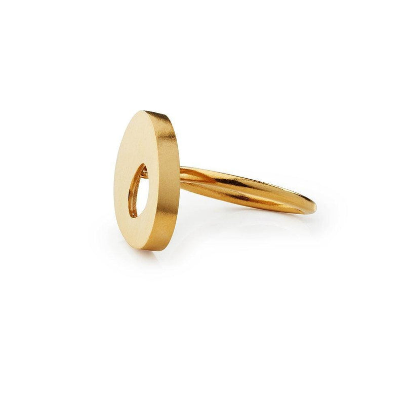 Inês Telles Ellos Gold Plated Ring MOD Jewellery - 24k Gold plated silver