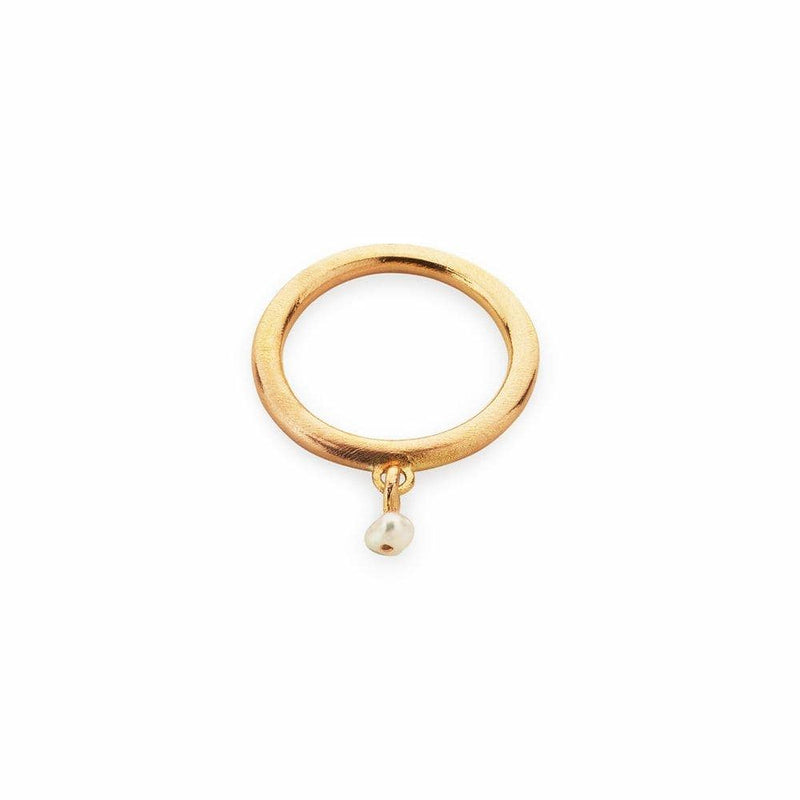 Inês Telles Lorena Gold Plated Ring with Pearl MOD Jewellery - 24k Gold plated silver