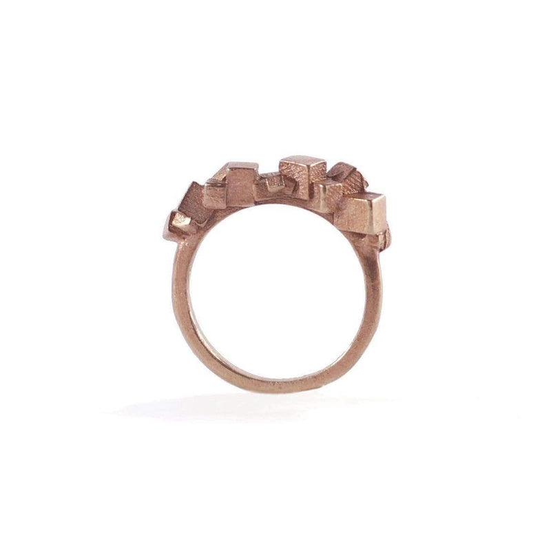 Kathia Bucho City Affairs Gold Plated Ring MOD Jewellery - Rose Gold Plated