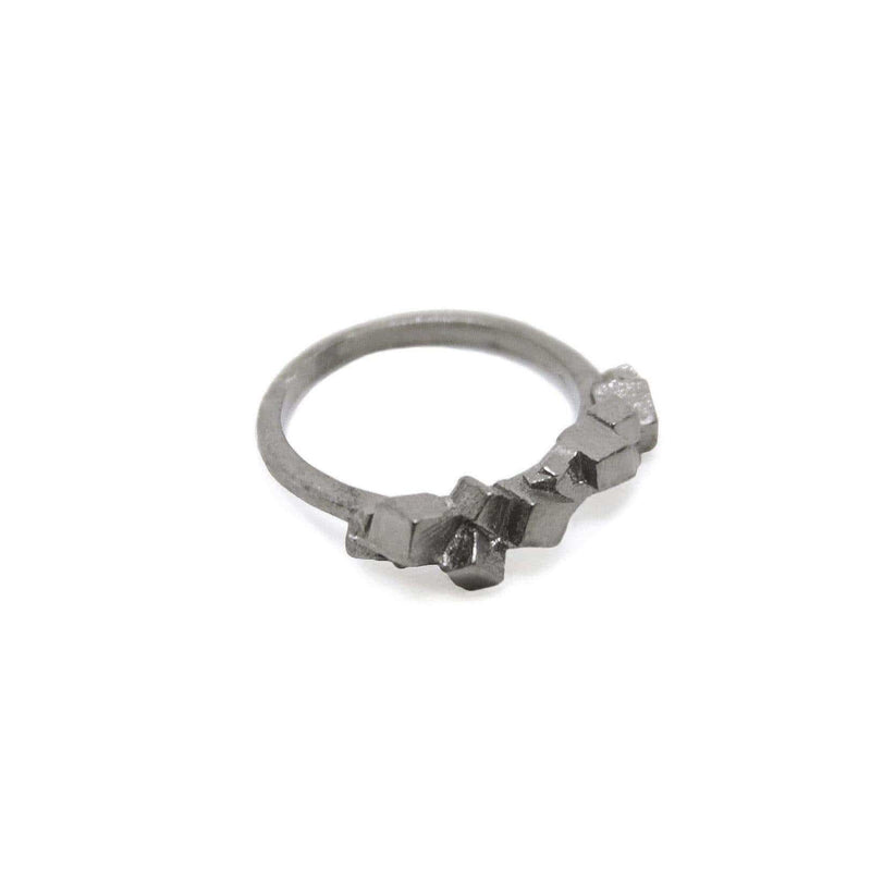 Kathia Bucho City Affairs Gold Plated Ring MOD Jewellery - Oxidised Silver