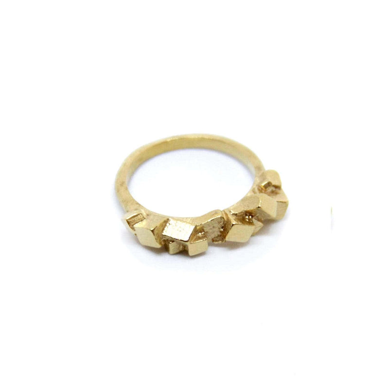 Kathia Bucho City Affairs Gold Plated Ring MOD Jewellery - Gold Plated