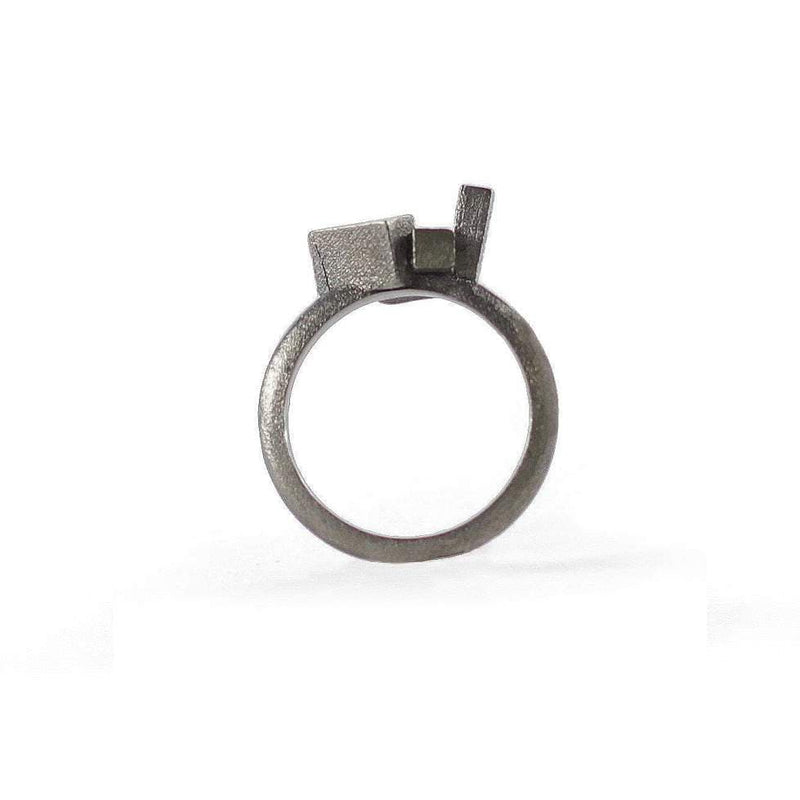 Kathia Bucho City Affairs Ring MOD Jewellery - Oxidised Silver