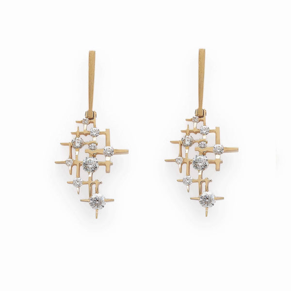 Mater Pyxis Long Gold Earrings MOD Jewellery