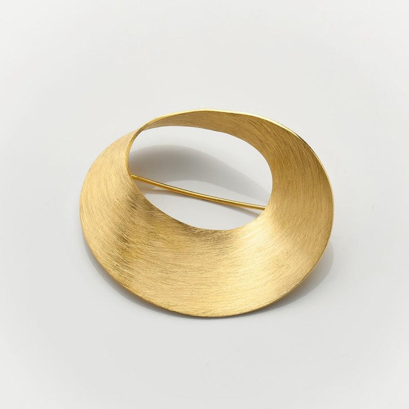 MOD Jewellery Curl Gold Plated Brooch MOD Jewellery - 24k Gold Plated Silver