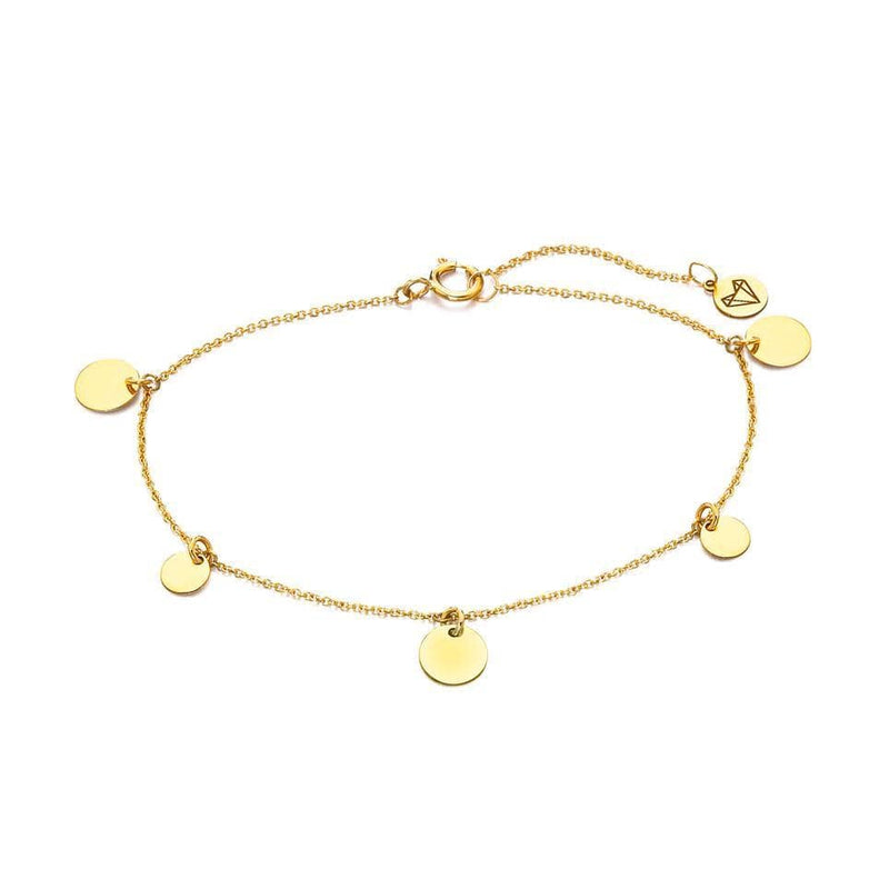 MOD Jewellery Gold Bracelet with Plates MOD Jewellery