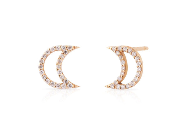 MOD Jewellery Moon Diamond Earrings MOD Jewellery