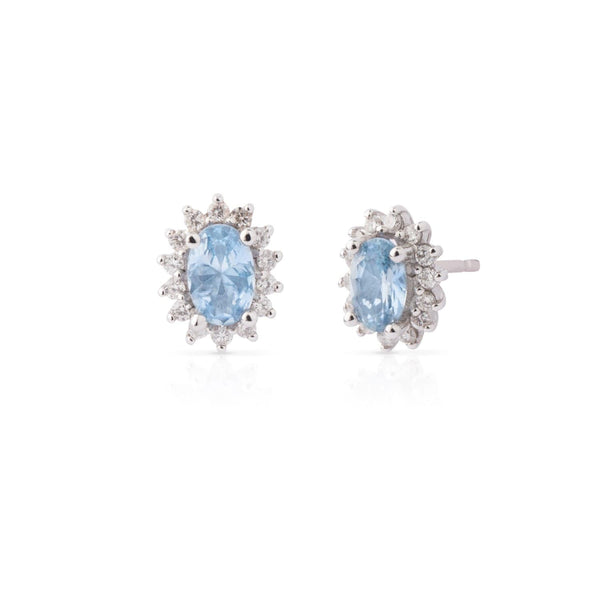 MOD Jewellery Royal Aquamarine Diamond Earrings MOD Jewellery