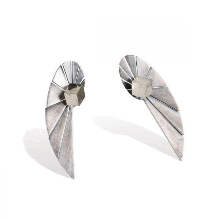 Vangloria Nautilus Extended Silver Earrings MOD Jewellery