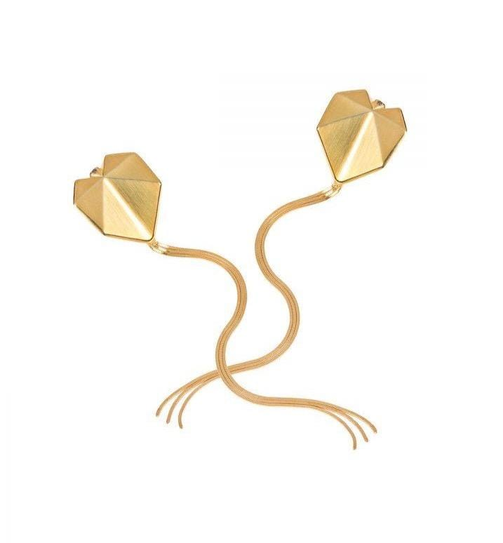 Vangloria Sagittata Gold Plated Earrings MOD Jewellery