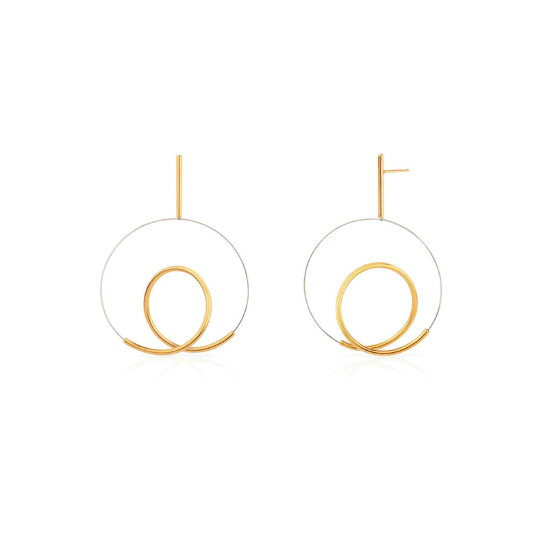 Yoko Takirai Ryu Gold Small Earrings MOD Jewellery