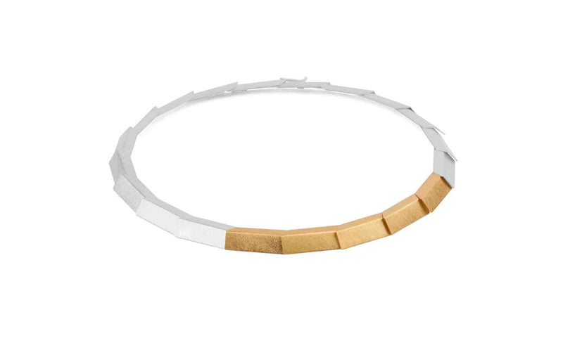 Zaremski Tile Necklace MOD Jewellery - Sterling & Gold plated silver