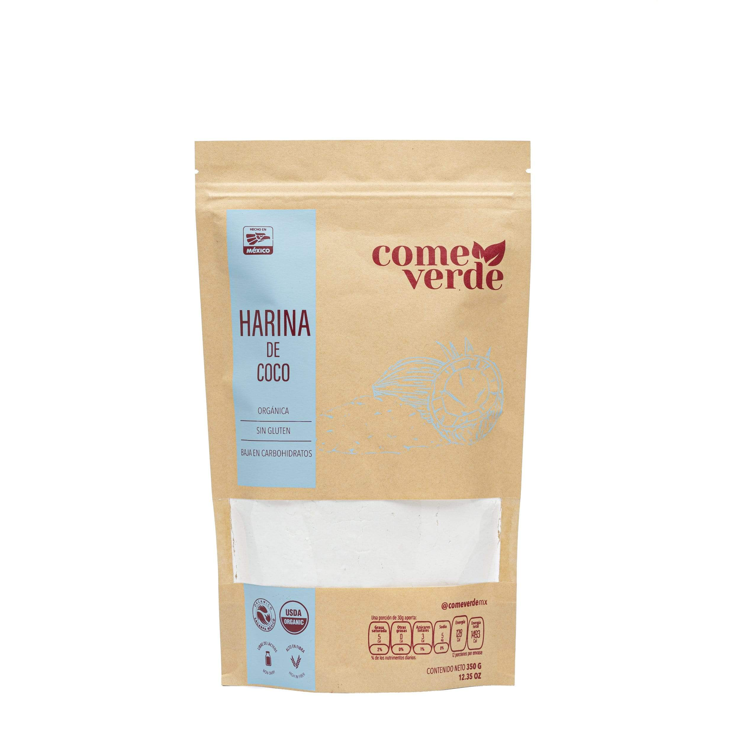 ORGANIC COCONUT FLOUR EAT GREEN 350 G