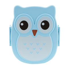Portable Kids Student Lunch Box Bento Box Container Compartments Case Cute Cartoon Owl Lunch Box Food Container Storage Box