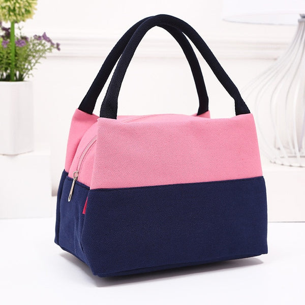 Brand Canvas Lunch Bags For Women Fashion Portable Thermal Insulated Lunch Box Bag Tote Bolsa Comida Lunch Bag For Kids School