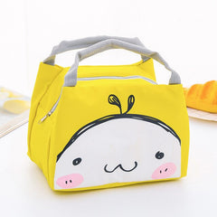 MODYCON Cartoon Cute Lunch Bag For Women Girl Kids Children Thermal Insulated Lunch Box Tote Food Picnic Bag Milk Bottle Pouch