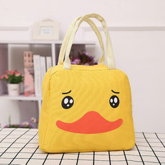 Cartoon Canvas Lunch Bags Portable Insulated Thermal Cooler Bento Lunch Box Tote Picnic Storage Bag Pouch Drop Shipping