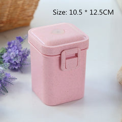 900ml Lunch Box Food Grade Bento Box 3 Layer Wheat Straw Bento Boxes Microwave Dinnerware Food Storage Food Containers Lunchbox
