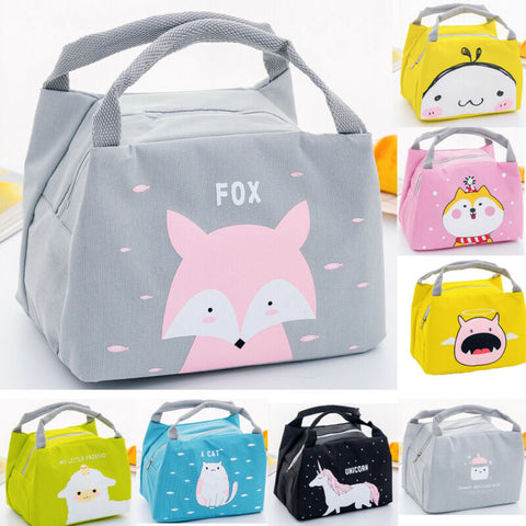 Portable Insulated Thermal Food Picnic Lunch Bag Box Cartoon Bags Pouch For Women Girl Kids Children