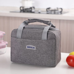 Lunch Box Bag Waterproof Thermal Bag Oxford Fabric Portable Thermal Insulated Cation Picnic Food Box Women Tote Storage Ice Bags