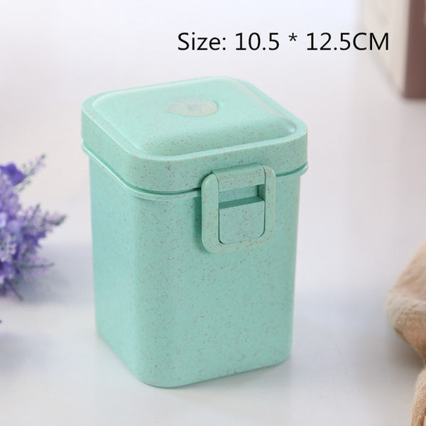 900ml 3 Layers Lunch Box Bento Food Container Eco-Friendly Wheat Straw Healthy Material Microwavable Dinnerware Lunchbox 2020