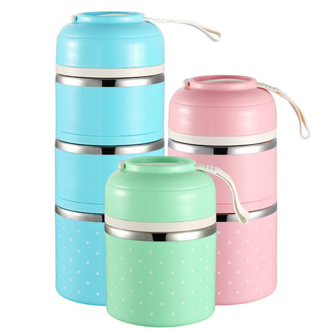 WORTHBUY Kids Lunch Box Portable Japanese Bento Box Leak-Proof Food Container For Children School Bento Box Kitchen Lunchbox