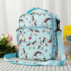 Heopono Branded Food Safe Fashion Kids Thermal Food Cooler Bag Fitness BPA free Children Cartoon Unicorn Lunch Box Bag for Girls