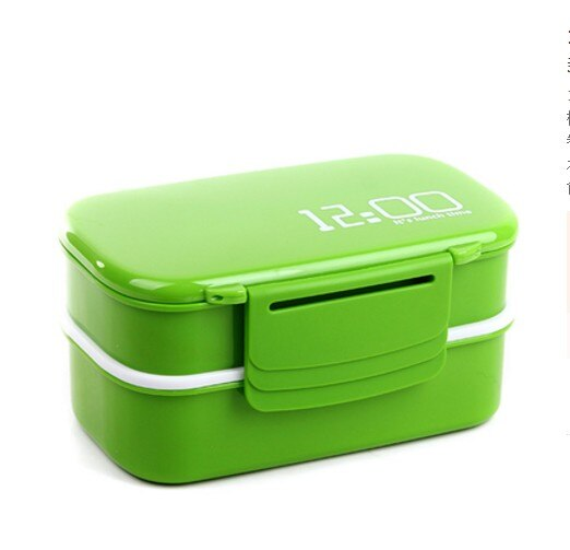 1400ml Microwave Double Layer Lunch Box Plastic Bento Lunch Box Food Container Workers Student Lunchbox With Compartments