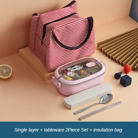 Stainless Steel Insulated Lunch Box student School Multi-layer Lunch Box Tableware Bento Food Container Storage Breakfast Boxes