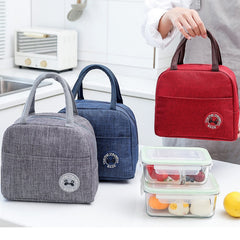 New Portable Lunch Bag New Thermal Insulated Lunch Box Tote Cooler Handbag lunch bags for women Convenient  Box Tote Food Bags