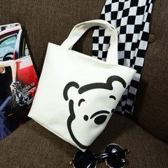 2019 new Disney fashion trend handbags casual small bag mickey mouse portable canvas bag handcuffs bag lunch box bag