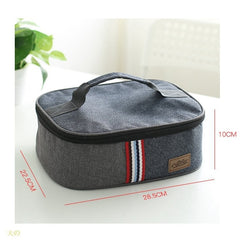 new fashion denim lunch bag thermal food insulated bag kids women or men casual cooler thermo picnic bag thermo lunch box